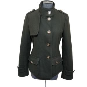 Coogi Military Style Green Wool Jacket M